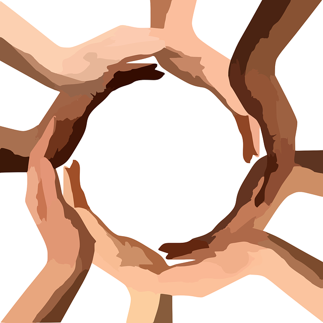 Circle of hands graphic