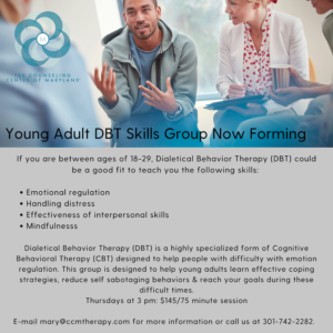 Young Adult DBT Skills Group Flyer
